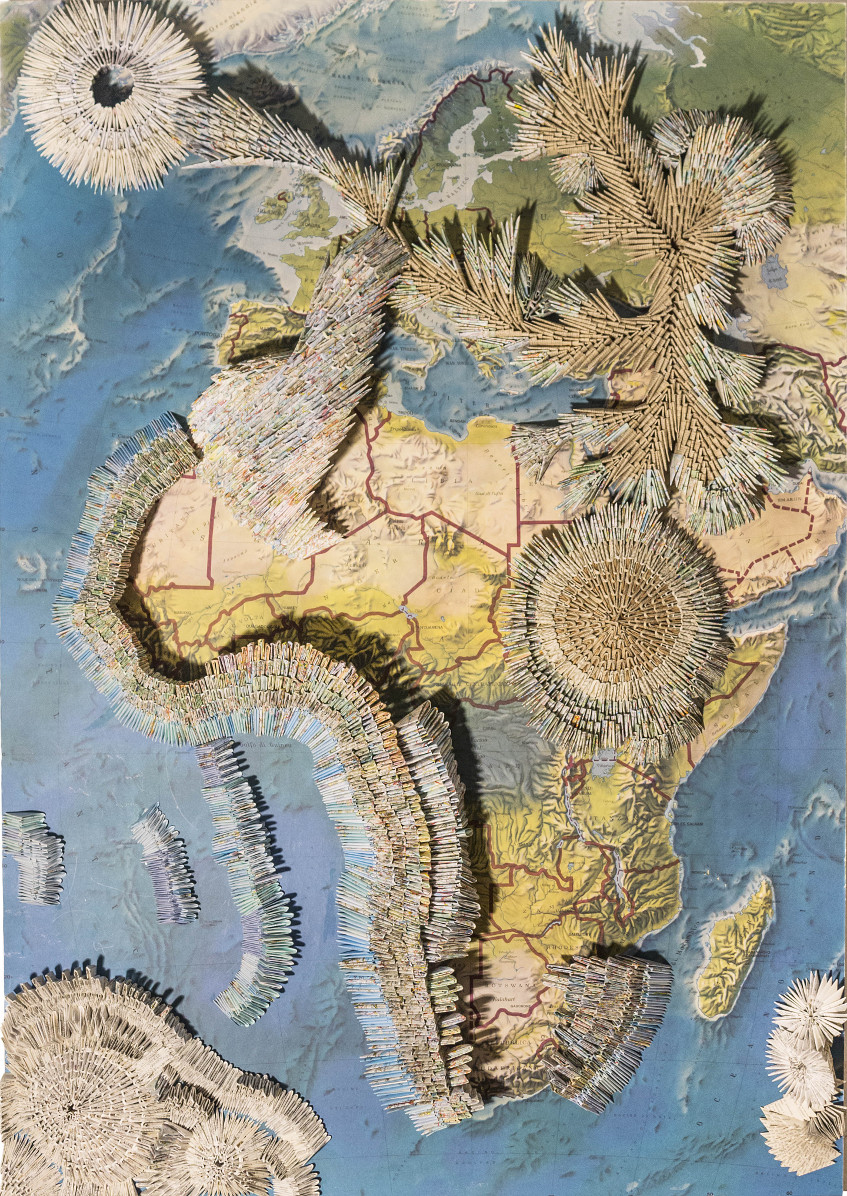 U.congiunzionitracieloeterra.Africa.135x95x13cm.altorilievofisicodeldesiderio.2016.AmandaChiarucci